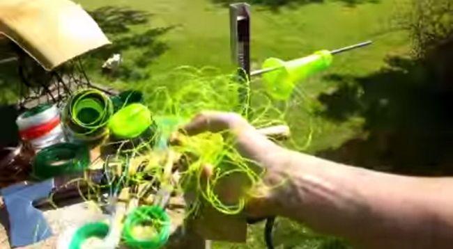 Пристосування для розпуску пластикової пляшки на нитку. Як зробити мотузку з пластикової пляшки своїми руками