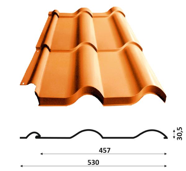 Як вибрати колір металочерепиці в каталозі з урахуванням практичності і стилю. Дах з металочерепиці: характеристики та фото покрівлі рал черепиці