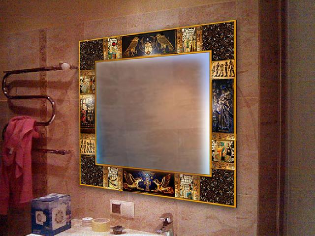 Як задекорувати квадратне дзеркало своїми руками. Декор дзеркала своїми руками з родзинкою