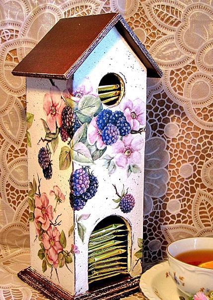 Декупаж чайного будиночка: докладний опис оформлення і прикраси. Огляд кращих ідей і варіанти їх поєднань