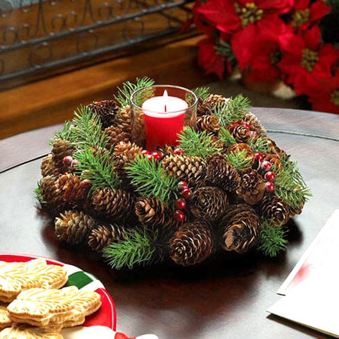 Свічники до нового року своїми руками. Оригінальний декор