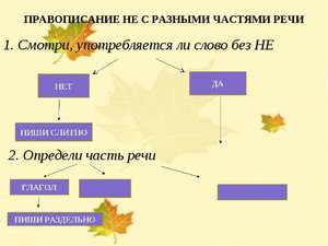 Правопис не з іменниками таблиця прикладами. » не  з іменниками: приклади і правило