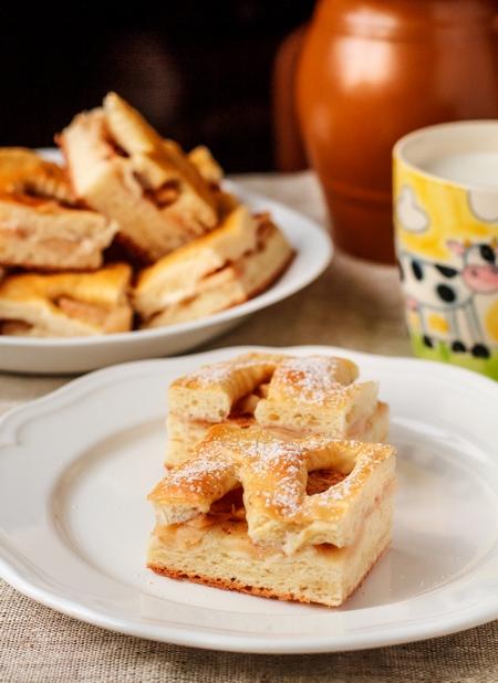 Пиріг з дріжджового тіста з яблуками в духовці. Покроковий рецепт з фото